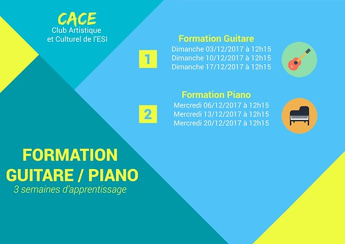Formations Piano/Guitare par CACE