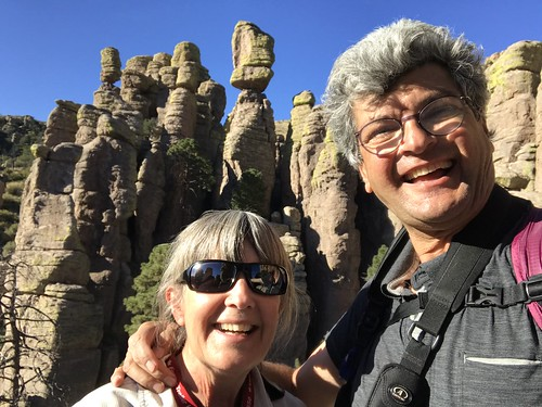 Chiricahua National Monument hoodoo selfie