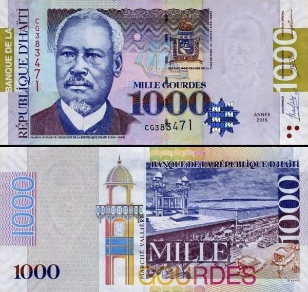 1000 Gourdes Haiti 2015, P278f pamätná