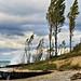 Pt. Betsie lighthouse-heavy surf
