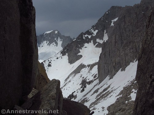 Watching the storm pass over Mt. Abbot from my cave above Mono Pass, Inyo National Forest, California