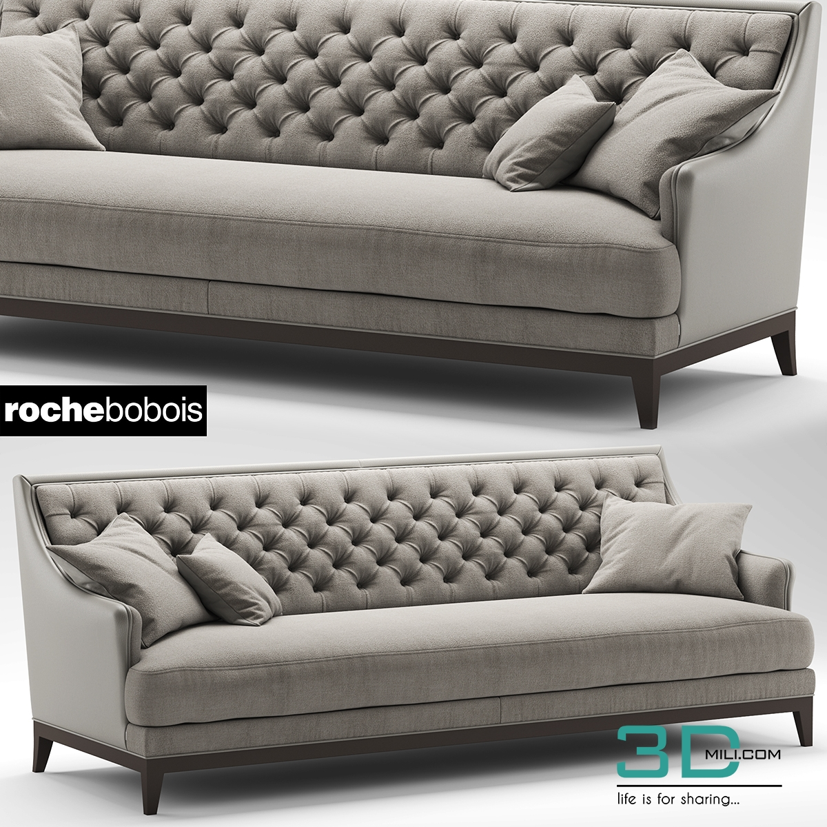 288 sofa fauteuil epoq roche bobois 3d mili download 3d model free 3d models 3d model. Black Bedroom Furniture Sets. Home Design Ideas