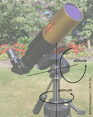 photo tripod as altitude-azimuth mount