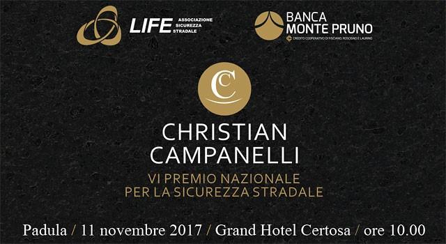 Padula: l'11 novembre la VI edizione del Premio Nazionale Christian Campanelli