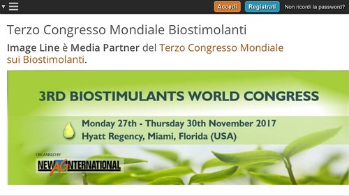 3rd world congress - Biostimulants in agriculture 2017