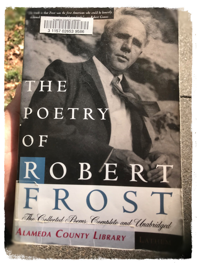 "paperback cover: ""The Poetry of Robert Frost"" by Connery Lanthem"