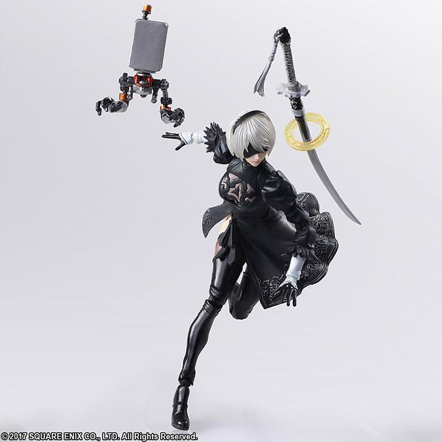 2B化身精美的可動人偶啦!BRING ARTS《尼爾:自動人形(NieR:Automata)》 2B & 機械生命體 6吋可動人偶