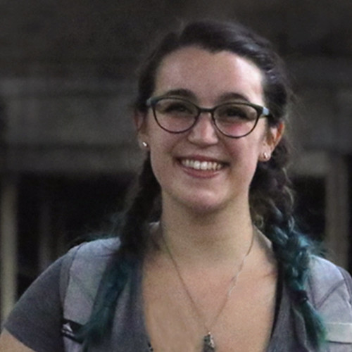 WMU Public History student Alicia Risk, who created a history exhibit for the Kalamazoo State Theatre's 90th anniversary