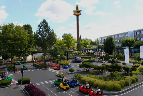 driving small cars at Legoland Billund