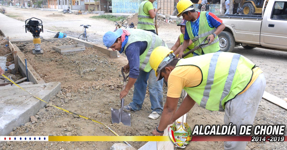 Continúan los trabajos en calles Salustio Giler e Ítalo Colamarco Intriago