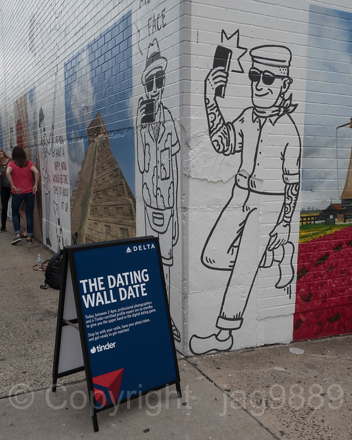 Delta Airlines Dating Wall Mural, Williamsburg, New York City