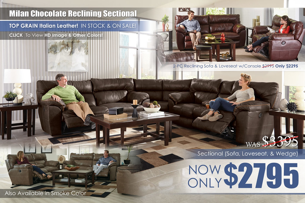 Milan Chocolate Catnapper Sectional