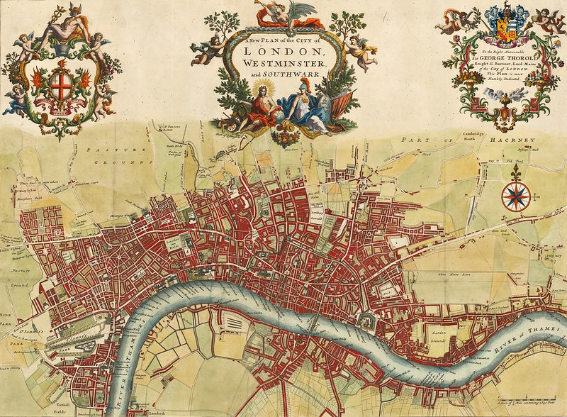 John Strype - A New Plan of the City of London, Westminster and Southwark (1720)