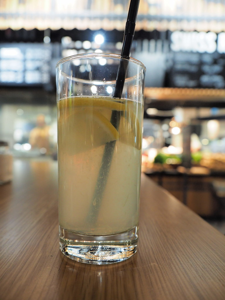 A glass of homemade lemonade at Marché Mövenpick Pavilion