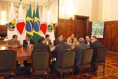 Reunião com os prefeitos do Vetor Norte sobre a reabertura do aeroporto da Pampulha