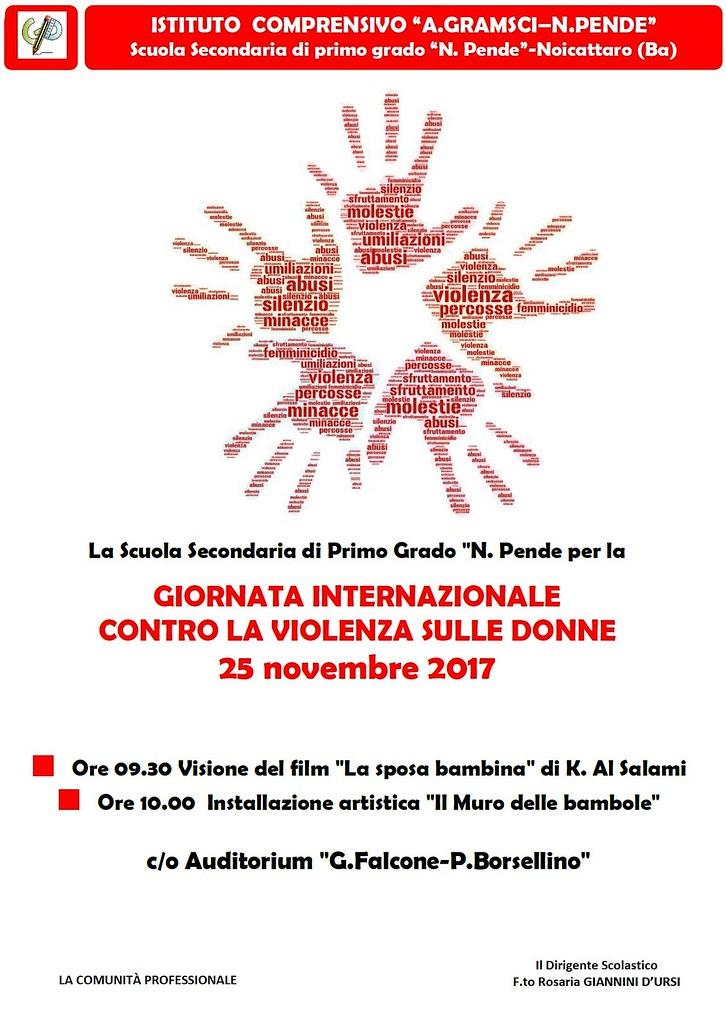 Noicattaro. Giornata contro violenza donne Pende intero