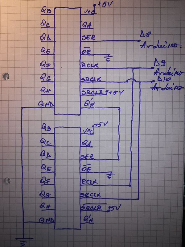 two shift registers schematic