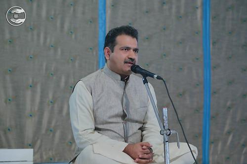Stage Secretary, Manish Khanna from Sant Nirankari Colony