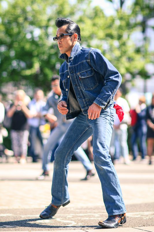 Rockabilly dancer at Yoyogi Park