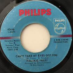 FRANKIE VALLI:CAN'T TAKE MY EYES OFF YOU(LABEL SIDE-A)