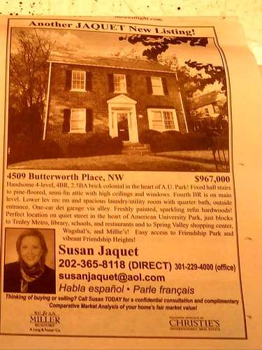 House for sale ad, Northwest Current (DC), 12/6/2017