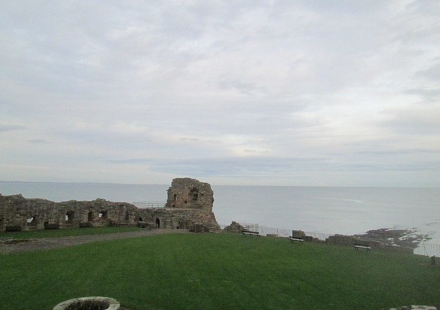 St Andrews castle + sea