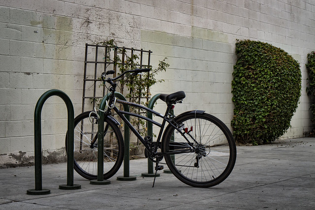 Bike in downtown Downey