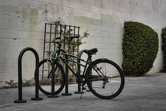 Bike in downtown Downey
