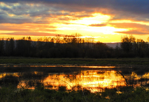 Sunset...Ridgefield really glittered this evening! (Explored)