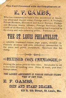 Gambs, E. F. 1875-1882