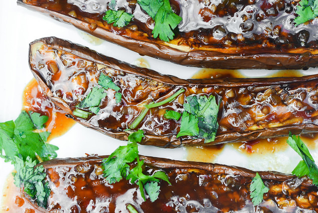 Chinese Eggplant with Yu Xiang Sauce