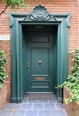 Green doorway, East 64th Street, Manhattan