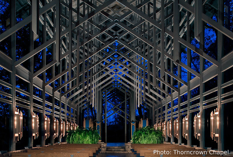 Thorncrown Chapel arkansas 2017