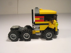 Folding wing bi-plane and transport truck 007