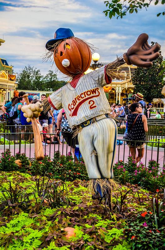 MK baseball scarecrow