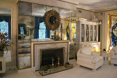 Fireplace in Drawing Room - Graceland - the home of Elvis Presley