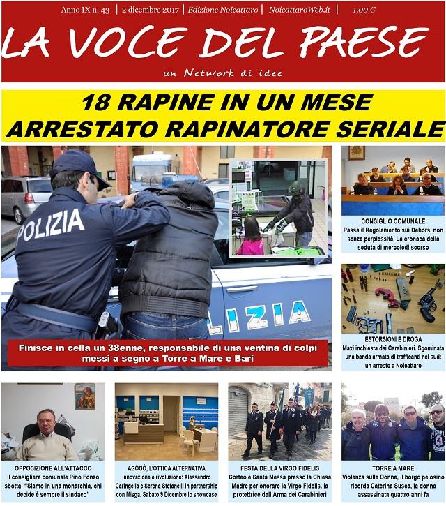 Noicattaro. Prima pagina n. 43-2017 intero