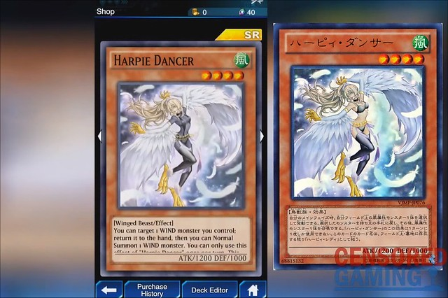 Yu-Gi-Oh Duel Links - Harpie Dancer Censorship