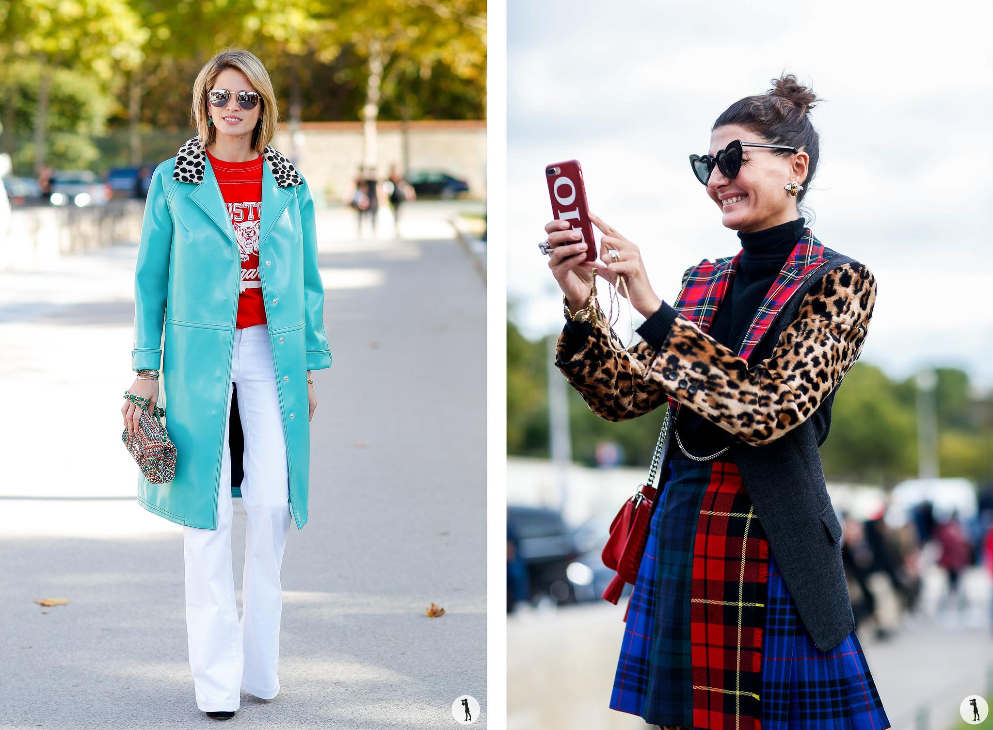 Helena Bordon and Giovanna Battaglia - Paris Fashion Week SS18
