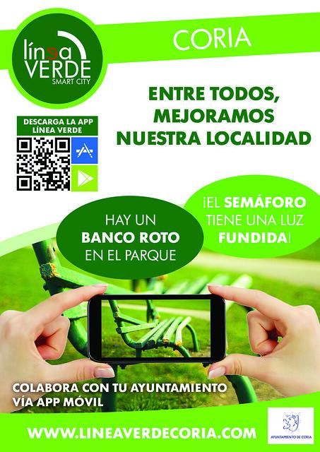 El Ayuntamiento de Coria implanta el servicio de comunicación de incidencias a través de APP móvil
