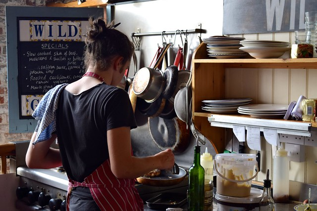 Open Kitchen at Wild Goose, Canterbury #smallplates #wildgoose #thegoodsshed #canterbury | www.rachelphipps.com @rachelphipps