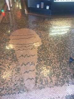 Ice Cream Shop Floor Paved in Cents