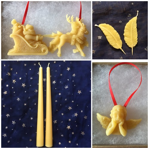 Pure beeswax Christmas decorations