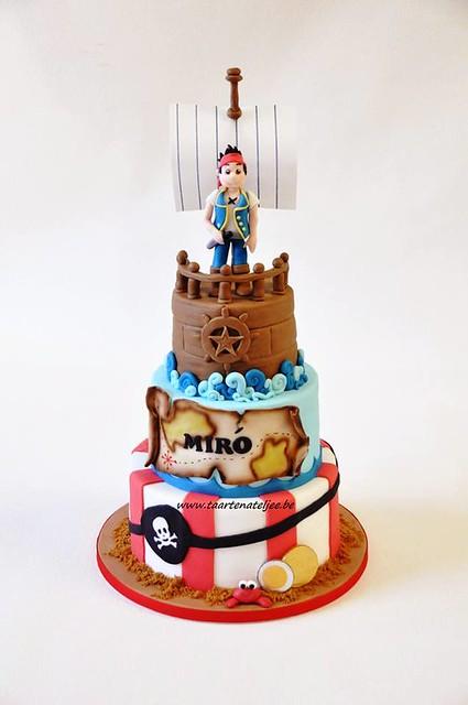 Pirate Cake by taartenateljee