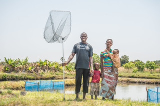 Fish farmers, Zambia. Photo by Chosa Mweemba.