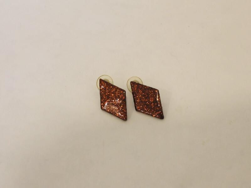 glitter painted earrings