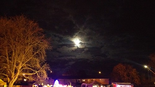 Full moon over Horley Bonfire