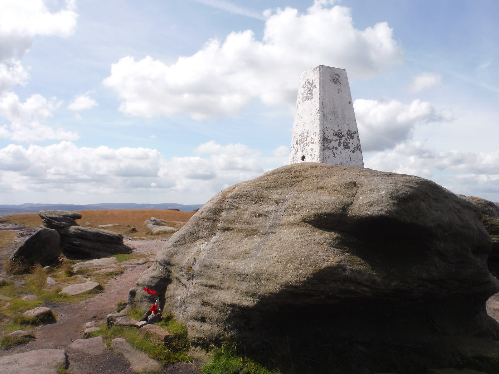 Trig Point at Kinder Low SWC Walk 303 - Edale Circular (via Kinder Scout and Mam Tor) [Kinder Downfall Option]