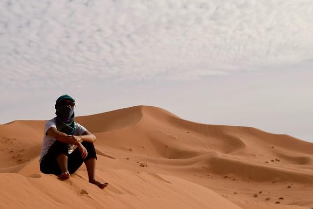 砂漠で黄昏るぼく