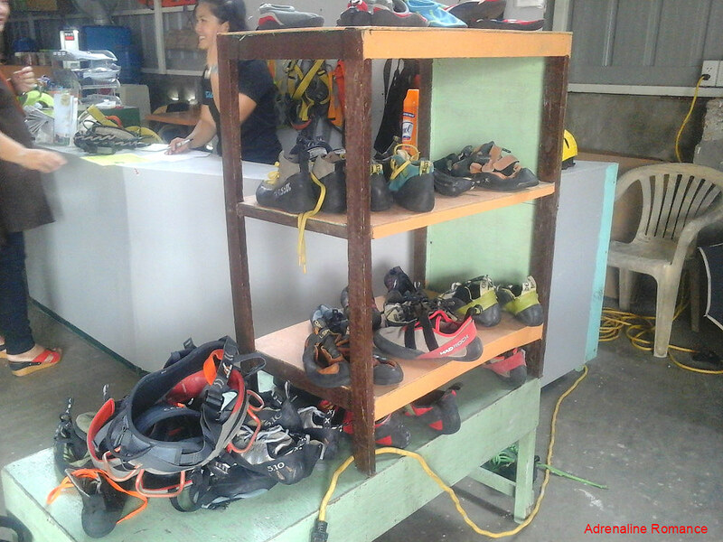That's a lot of climbing shoes